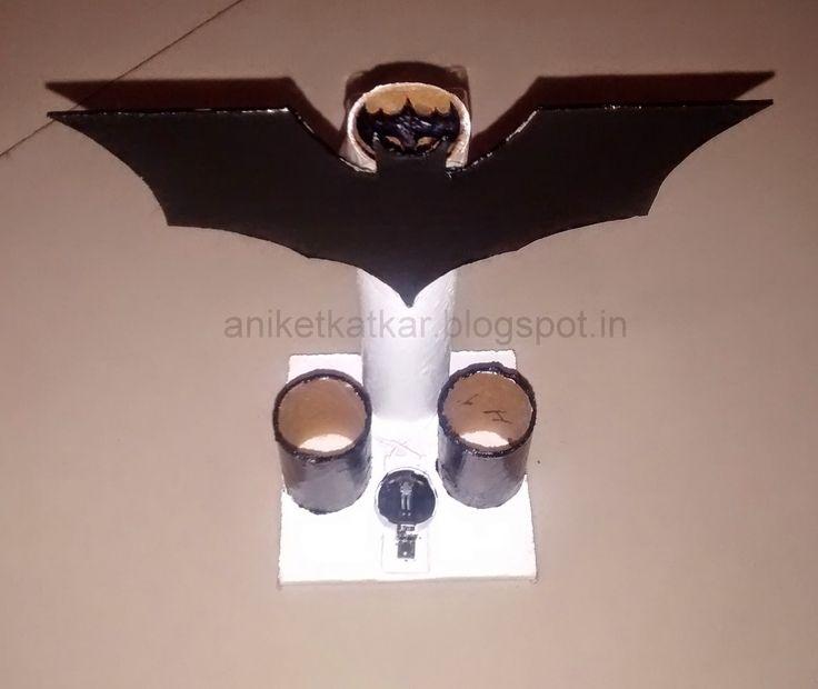 Artronics: How to make a Batman Penstand [with Bat Signal]
