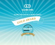 #GlobeOneDigital & #BondEvents are honored to receive the #GoldAward in the Effective Use of Search Engines category in Tourism Awards 2016, the greatest local Travel Industry event, organized by Boussias Communications and Hotel & Restaurant magazine.