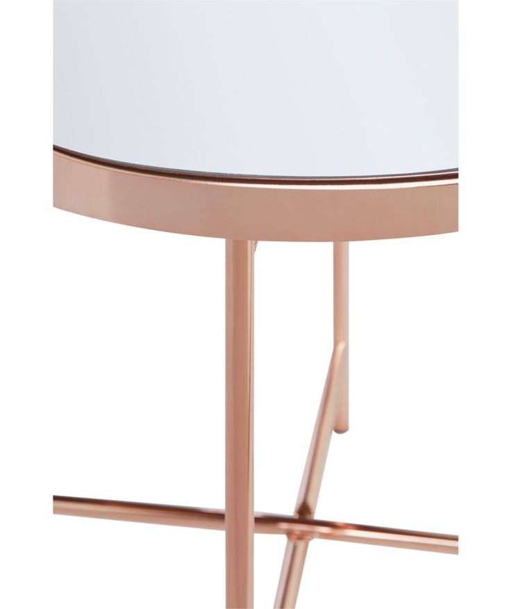 Buy Collection Round Glass Top Side Table - Copper Plated at Argos.co.uk - Your Online Shop for Occasional and coffee tables.