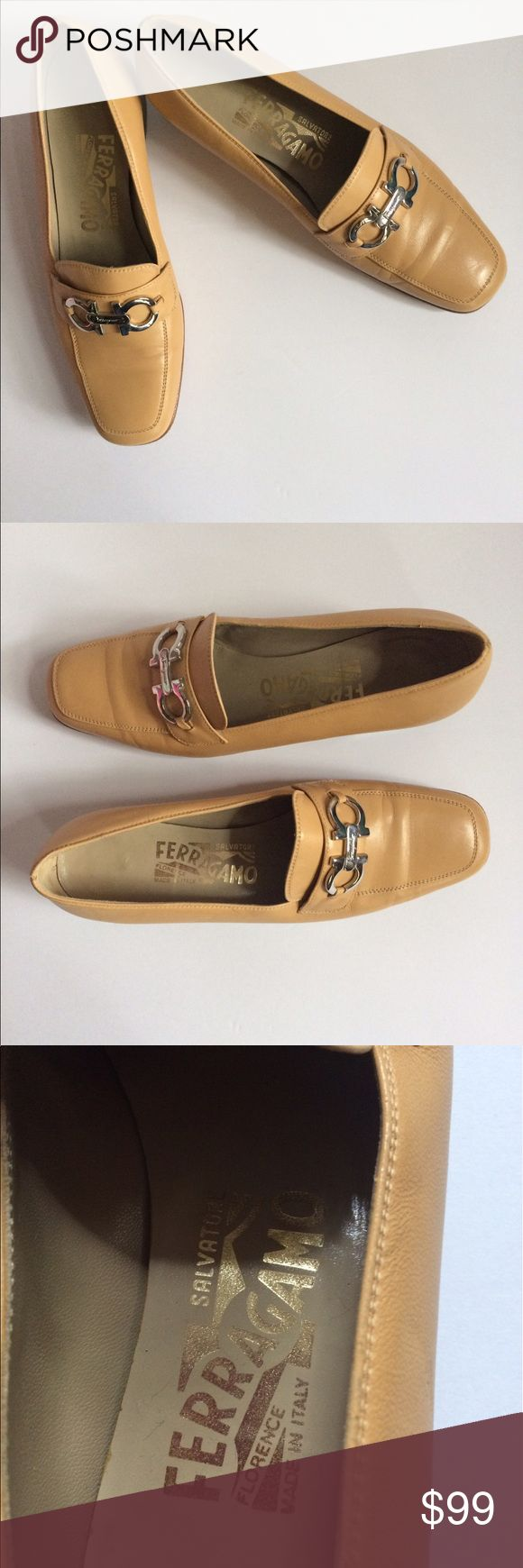 Ferragamo Leather Bit Loafers size 5.5 Beautiful Ferragamo Leather Loafers, signature hardware, leather lining  A staple shoe in everybody's closet. Ferragamo Shoes Flats & Loafers