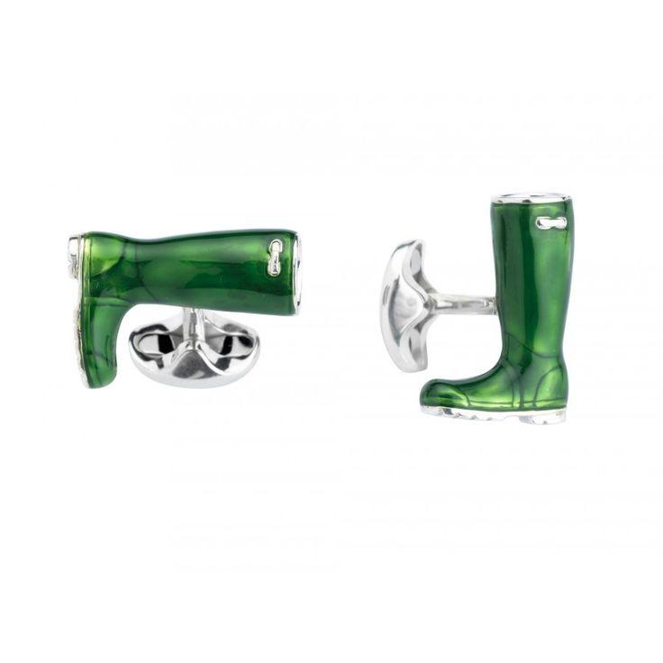 Deakin & Francis Sterling Silver Wellington Boot Cufflinks