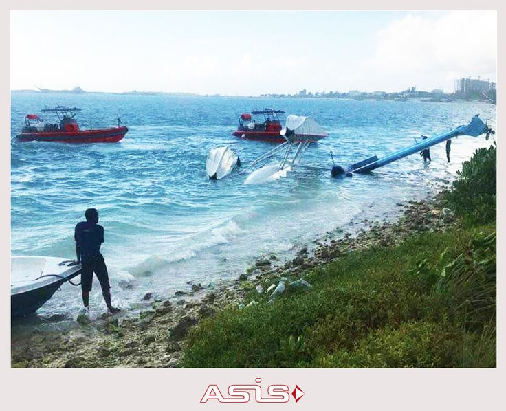 #ASIS #Firefighting & #Rescue #Rib #Boats responding to an #aircraft crash on the water runway of #Velana #International #airport in #Maldives. 15 passengers and 3 crew were rescued and taken to #safety.