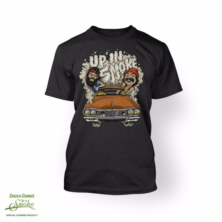 Cheech & Chongs Up In Smoke Car Smoke 420 Movie T-shirt