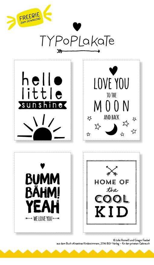 KreativesKinderzimmer, DIY Kinderzimmer, Plakate, Freebie, Kinderzimmer (Diy Wall Prints)