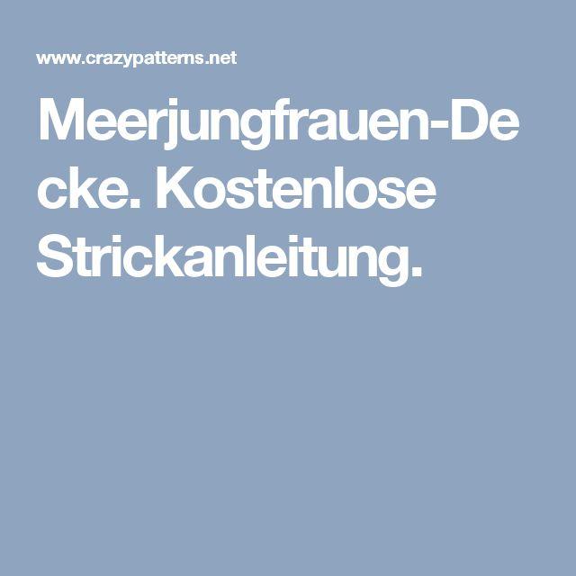 Meerjungfrauen-Decke. Kostenlose Strickanleitung.