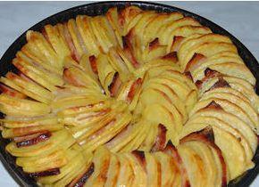Ezt a receptet egyik főzős műsorba hozta valaki, rögtön tudtam, hogy én is el fogom készíteni, annyira jól nézett ki. Kicsit eltértem a recepttől, mert ott csak a krumpli és hagyma v