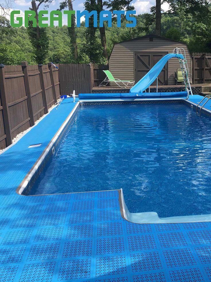 Outdoor PVC & StayLock Deck Floor Tiles in 2020 Pool