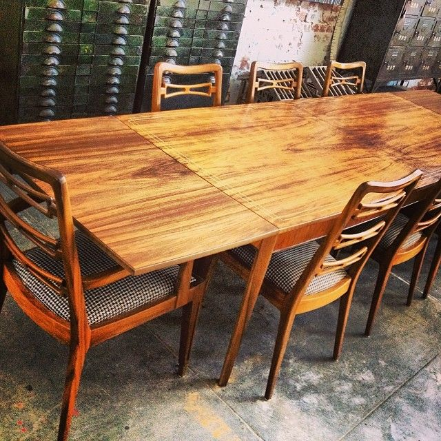We are now open sat & sun 9am - 2pm.Check out this Jakob Rudoulfski table and chairs we just sold. Absolutely one of the most gorgeous dining tables I have had. 12 seater in Queensland walnut and pencil inlays. #design #interiordesign #retro #retrofurniture #industrialfurniture #melbourne #melbournestyle #melbourneshopping #melbournelife #melbournecafe #yarraville