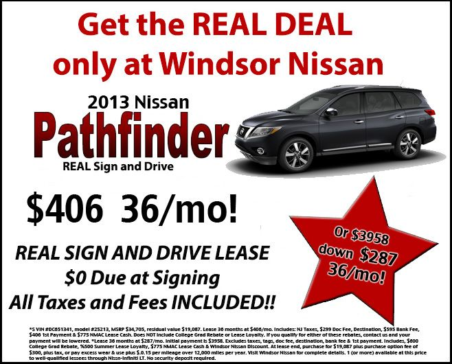 Lease the 2013 Nissan Pathfinder at Windsor Nissan