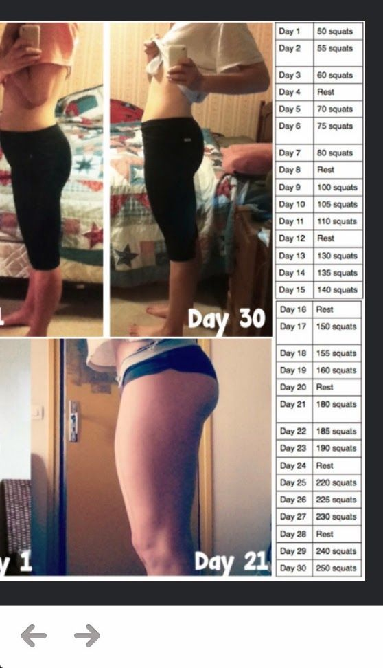 before and after squat challenge - Google Search