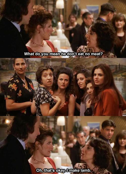 This was quite possibly my favorite part of one of my favorite movies..... My Big Fat Greek Wedding.