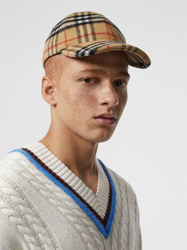 bdbf24f05 A structured baseball cap in boiled wool, woven in #Burberry ...