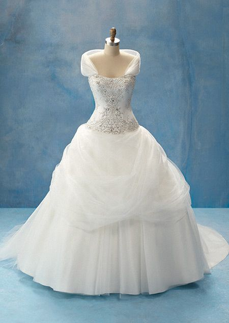 Disney's actual Belle inspired wedding dress. I. AM. IN. LOVE. I actually squealed when I saw this.