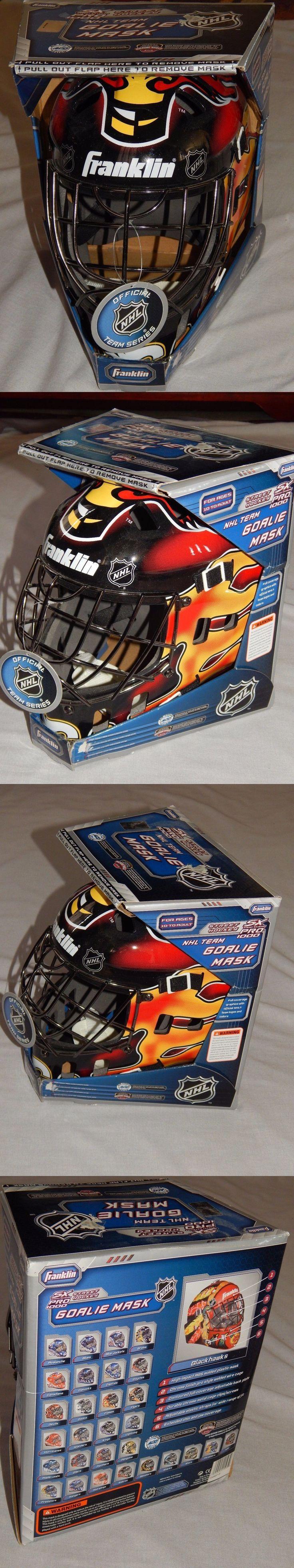 Face Masks 79762: New Calgary Flames Street Hockey Nhl Full Size Goalie Mask Franklin Sx Pro 1000 -> BUY IT NOW ONLY: $59.99 on eBay!