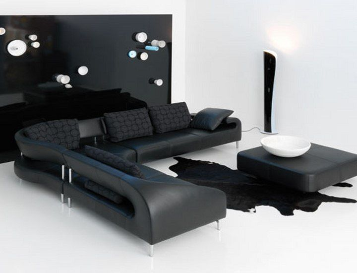 black living room furniture uk