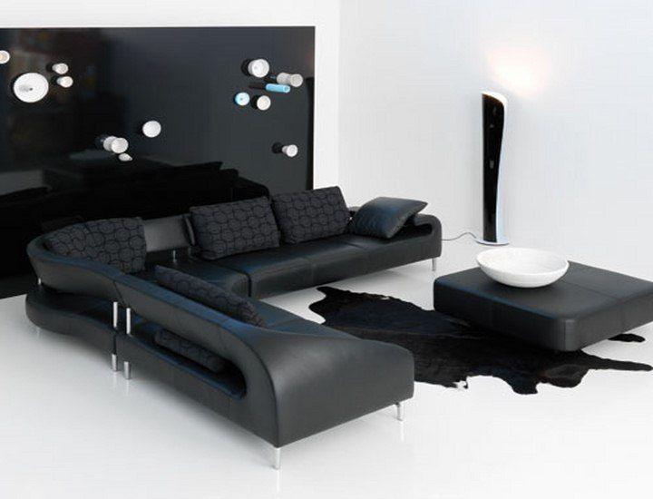 black living room furniture uk