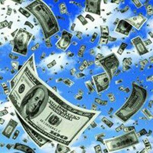 Деньги падают с неба на меня, даря мне радости и удовольствия.