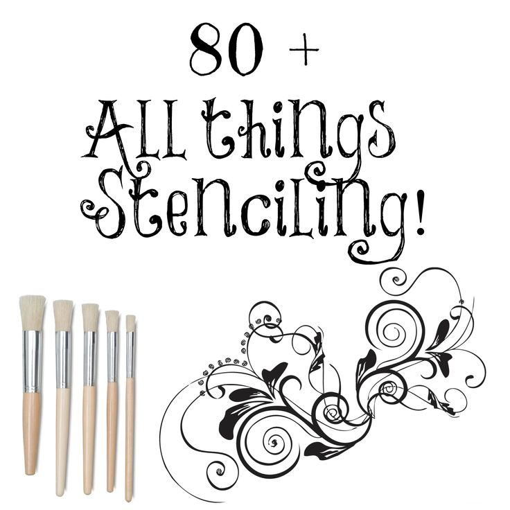 80 + Plus #diy #stenciling projects of my own gallery. #Furniture, #crafts, #burlap linens and more!