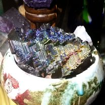 Genuine+USA+grown+rainbow+bismuth+metal+specimen.+Meant+for+meditational+purposes+as+a+generator+for+your+work.+Multicolored+tones+are+visible+throughout,+hard+to+photograph+due+to+natural+luster.    3+inches+by+1.5+inches+by+1+inch+thick    Rainbow+colored+Bismuth+can+be+a+wonderful+stone+to+use...