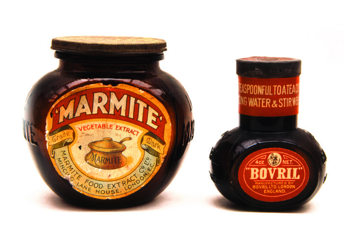 antique Marmite+Bovril