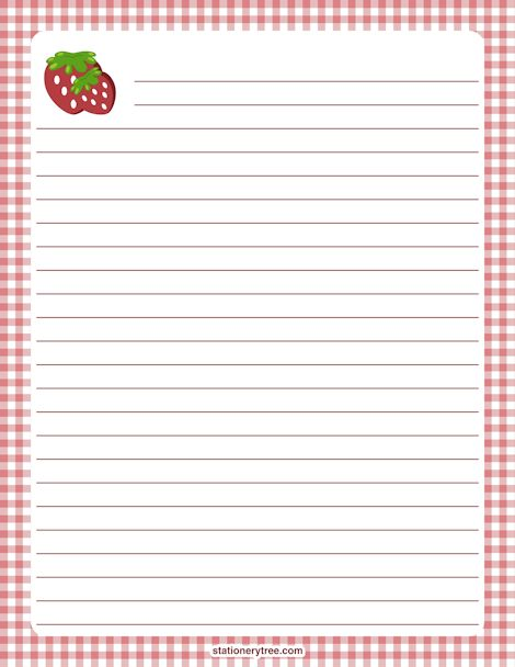43 best BORDERS- Stationary Food images on Pinterest Stationary - free printable lined writing paper
