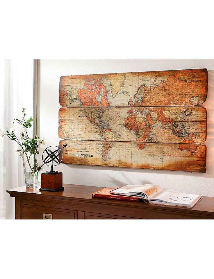 heine-home-Artprint-'Wereldkaart'
