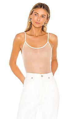 Nude Rhinestone Sheet Bodysuit