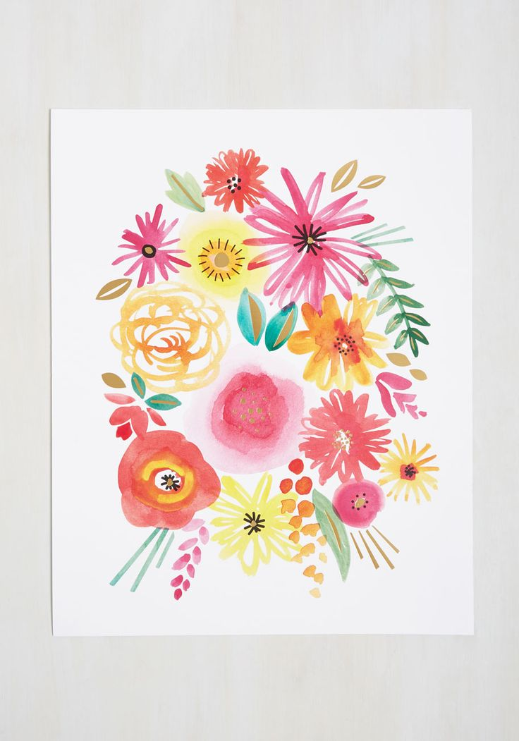 Infused with Femininity Print. Your entryway accent rug has a lemony twist and your duvet touts melony overtones - with this watercolor print, your living room itself can have a zesty flavor, too! #multi #modcloth