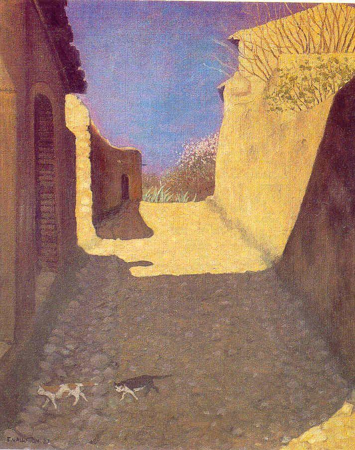 Deux chats passent Félix Edouard Vallotton (December 28, 1865 – December 29, 1925) was a Swiss painter and printmaker associated with Les Nabis.