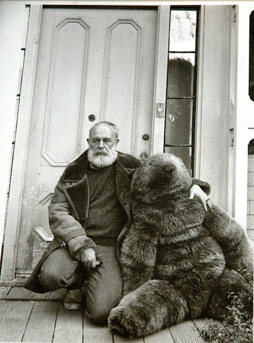 My hero (Mr Gorey) and the creation of one of my other heros Charleen Kinser (bear)