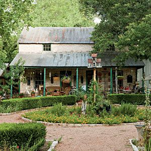 "SLEEP IN A GARDEN- Wake up to the smell of rosemary, thyme, and other fresh scents when you stay in one of the Sunday Houses at Fredericksburg Herb Farm, 830/997-8615. The cozy cottages are styled like the old-time ""Sunday Houses"" built by German farmers for weekend stays when they came to town for church and shopping."