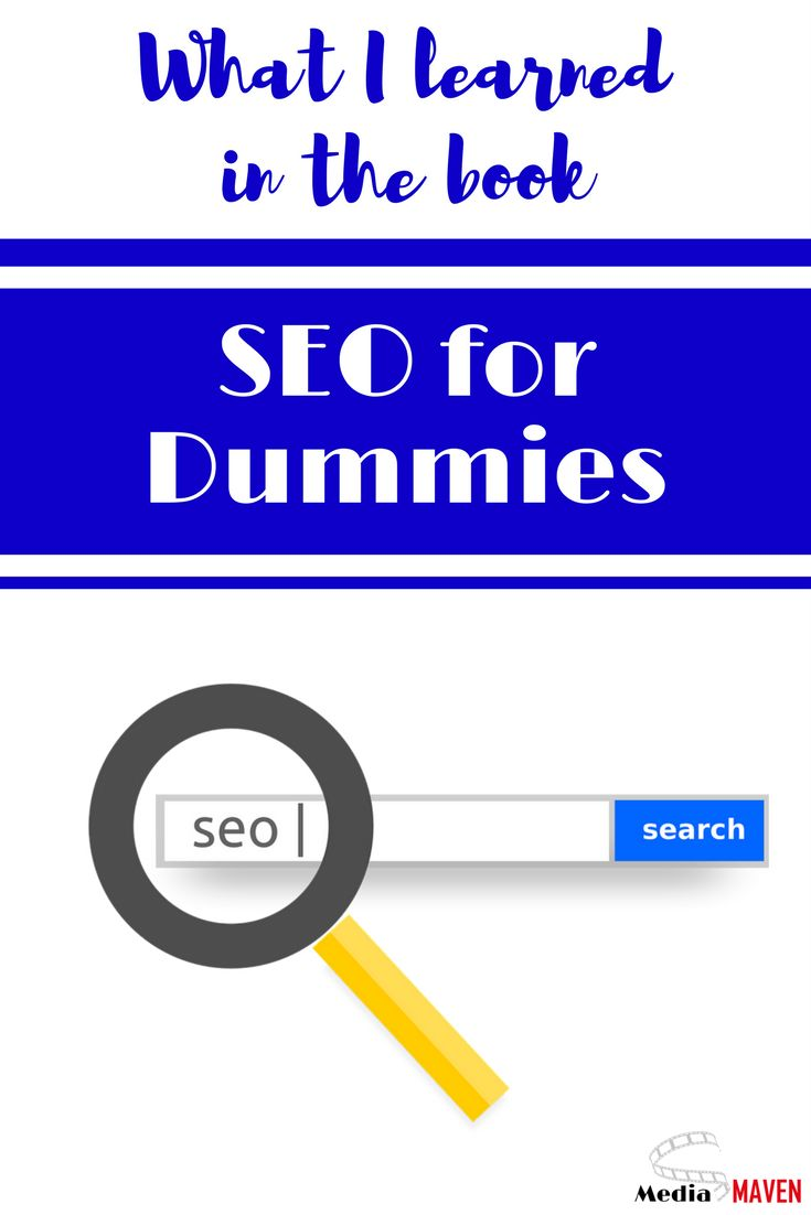 """Yes, SEO for Dummies is a book. (I love the """"for Dummies"""" books.) I took a look at it when I was at the library the other day for the sake of this blog post… and it's good!"""