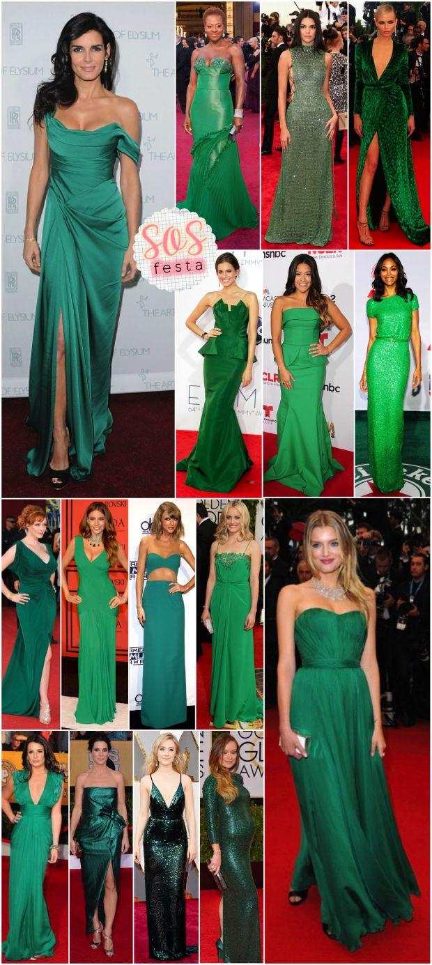 SOS Festa: Vestido verde! - Fashionismo A cor Pantone 2017