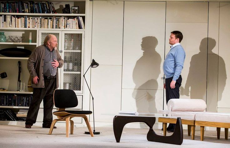 Owen Roe and Peter Gaynor in The Father by Florian Zeller in a translation by Christopher Hampton.  Picture by Pat Redmond