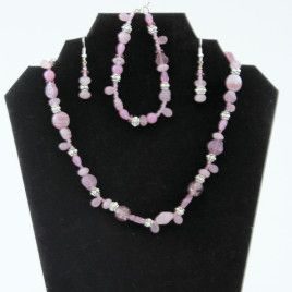 Pink Jewelry Set SALE PRICE $42.00 Can usually be sold individually upon request.