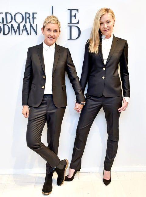 Ellen DeGeneres, Portia de Rossi Hit NYFW in Matching Outfits: Photos - Us Weekly