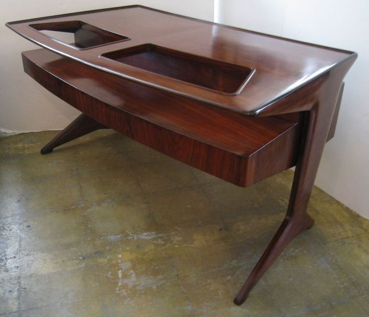 Gugliemo Ulrich Pallisander And Glass Desk Mid Century