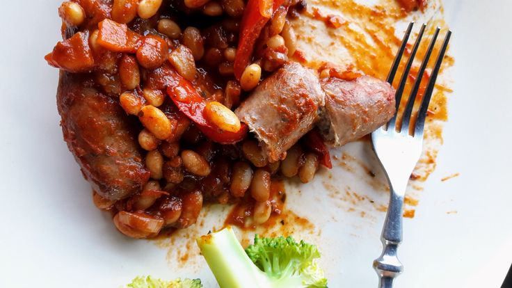 Smoked Paprika Baked Beans with Sausages - affordable comfort food that is good for your body and good for your soul
