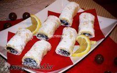 Omlós mákos rudacska recept fotóval