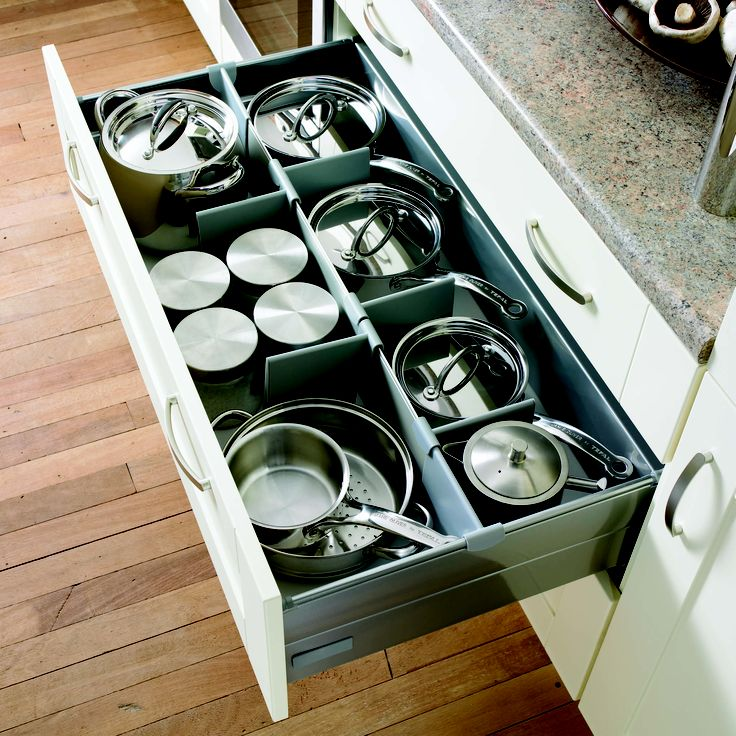 Love to be organised? Why not add a pan drawer organiser to your kitchen drawers - Bloor Homes Extra's.