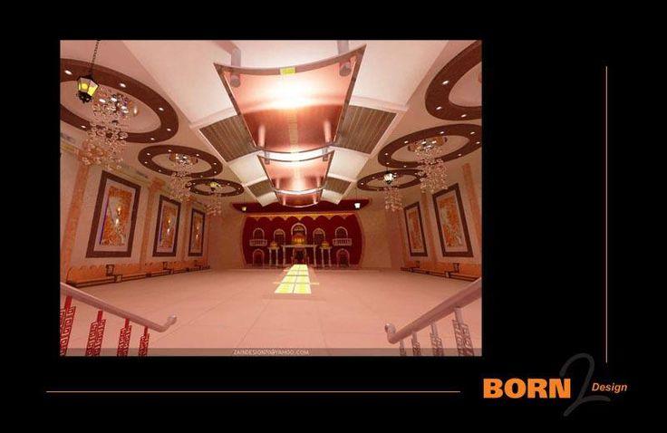 تصميم داخلي لصالة الافرا من الداخل في اليمن