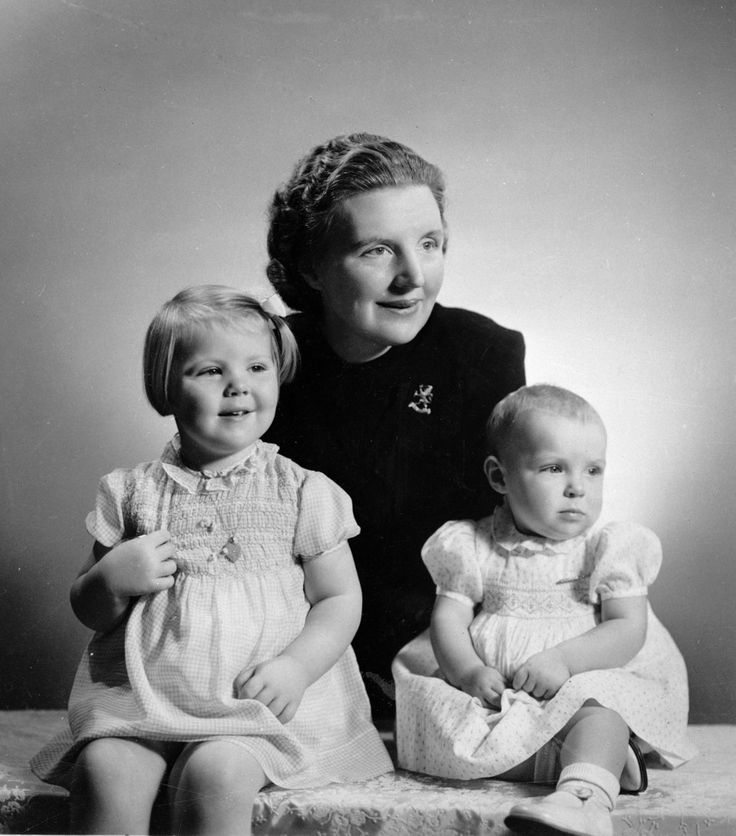 In this Dec. 6, 1940 file photo, Crown Princess Juliana of the Netherlands is seen with her two daughters, Princess Beatrix, left, and Princess Irene, right.