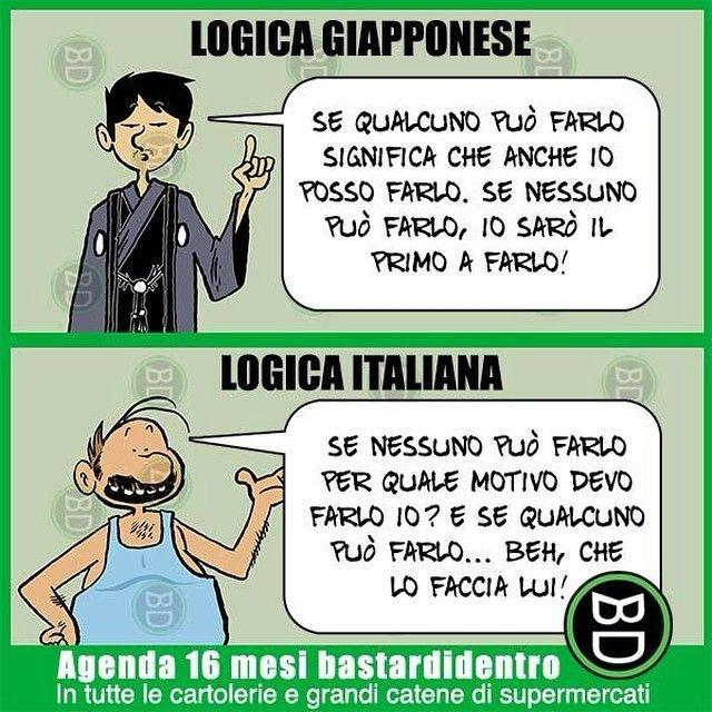#logica #giapponese VS #italiana #bastardidentro #ipnoticamentebastardidentro www.bastardidentro.it