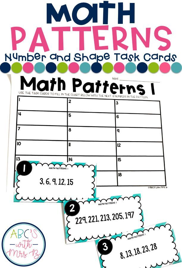Math Patterns are so much to incorporate into the classroom, plus it aligns with 4th and 5th grade Common Core Standards. I use these task cards during my math centers! They include number and shape patterns.