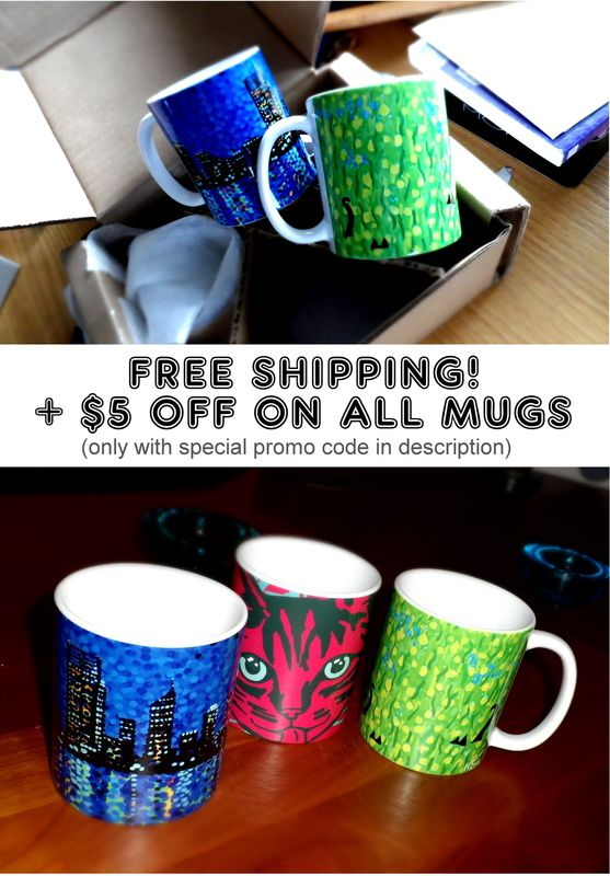 Mugs $5 oFF Today Only plus free shipping. Offer only available with this special promo code - https://society6.com/artgaragefinland?promo=VWP6M4RBHBQ6