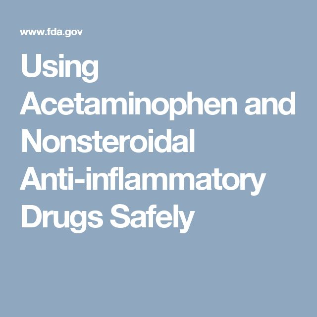 Using Acetaminophen and Nonsteroidal Anti-inflammatory Drugs Safely
