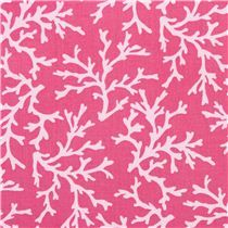 Tela rosa frambuesa coral marino de Michael Miller Sea Coral