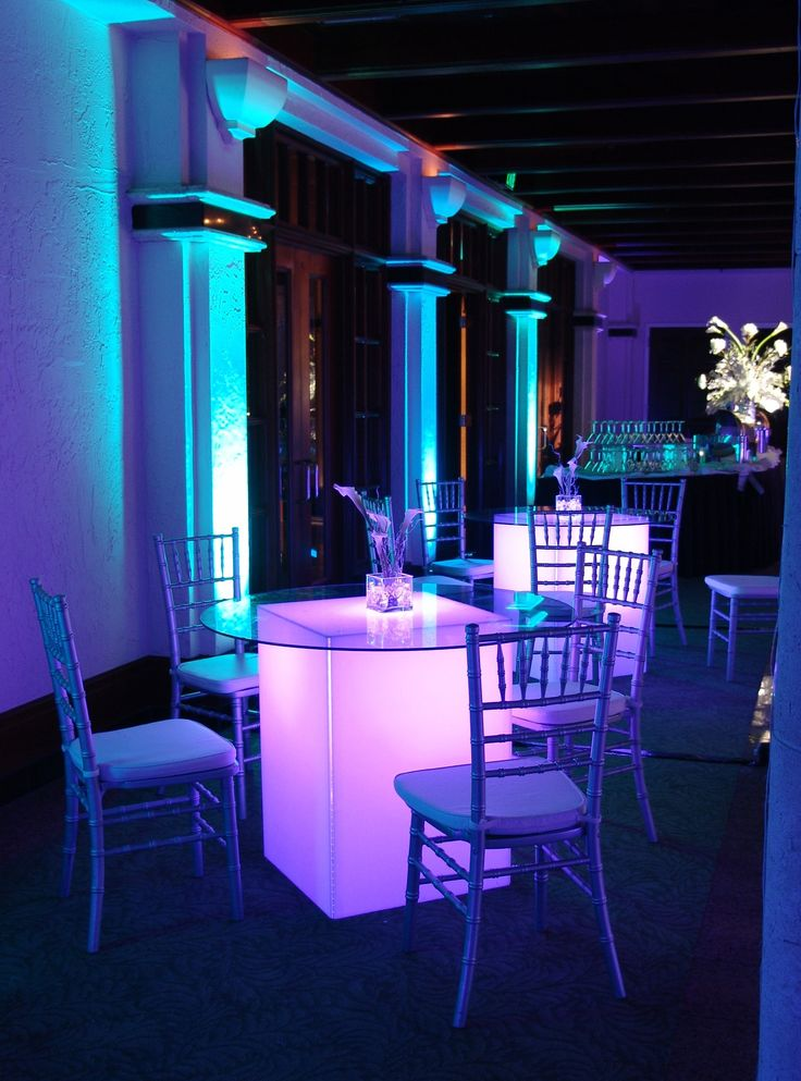 17 Best Images About Table Glow Uplighting On Pinterest