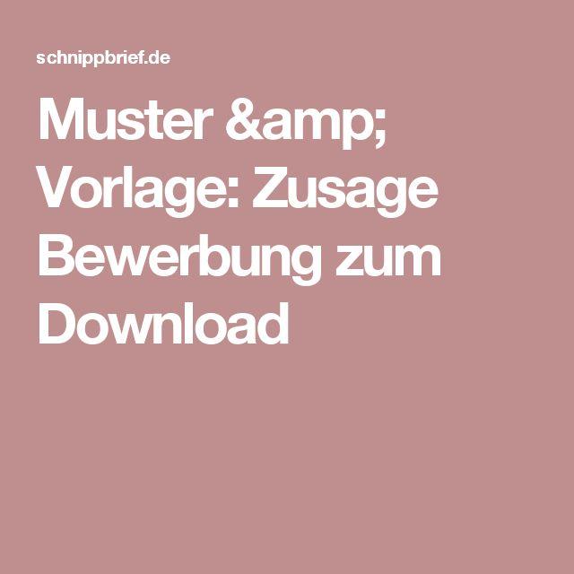 Muster & Vorlage: Zusage Bewerbung zum Download