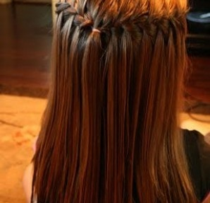 waterfall braid idea.: Hair Ideas, Hairstyles, Hair Styles, Hairdos, Makeup, Waterfall Braids